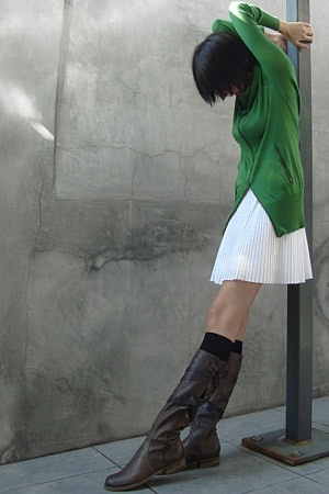 Nicholas K sweater - Hugo Boss dress - LD Tuttle boots