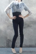 31 phillip lim blouse - Hugo Boss shirt - Acne Jeans pants - Cole Haan shoes