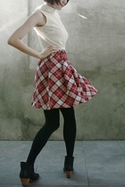 vintage dress - Spanx leggings - Rachel Comey boots