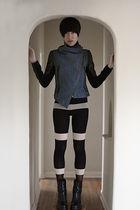 Henry Holland tights - ann demeulemeester boots - yigal azrouel jacket