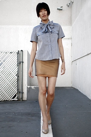 I made this skirt - 31 phillip lim blouse - Cole Haan shoes