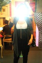 Forever 21 cardigan - H&M top - American Apparel pants - armor jewelry accessori