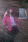 Pink-topshop-blazer-black-skirt-black-steve-madden-boots-black-american-ea