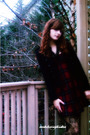 Red-kholes-dress-black-steve-madden-boots-black-express-tights-black-jacke