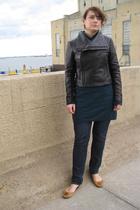 INC jacket - Uniqlo sweater - Express jeans - Chinese Laundry shoes