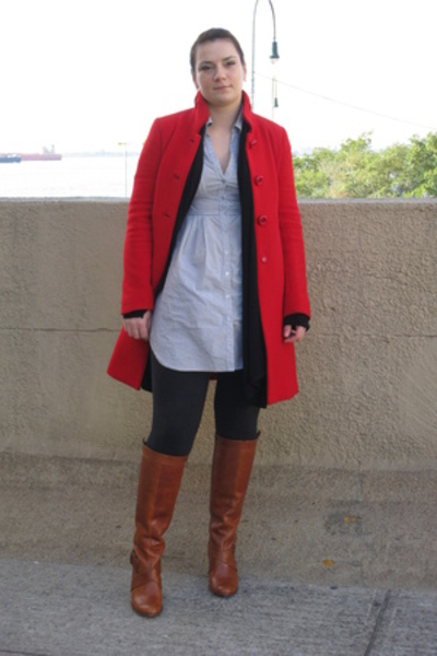 Jcrew coat - Frye shoes - H&M shirt - Necessary Clothin sweater