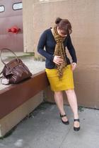 Jcrew skirt - Zara sweater - Frye shoes