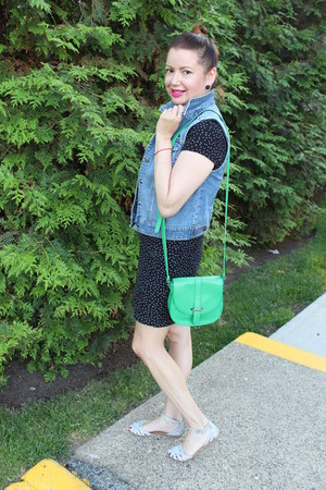 Express purse - Old Navy dress - Steve Madden sandals - Nordstrom vest