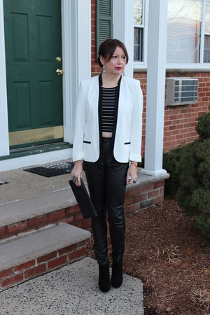 Target blazer - faux leather H&M pants