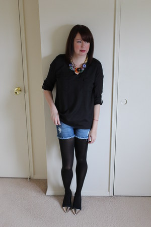 Aliexpress necklace - heels DressBarn shoes - silk TJ Maxx shirt