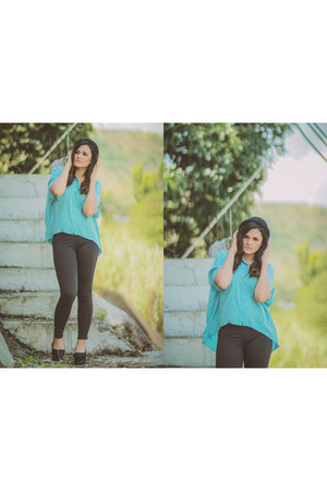 teal What A Girl Wants top