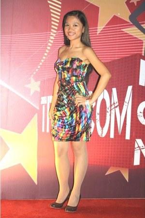 red Karimadon Phils dress - brown Club 7 heels