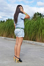 Light-blue-denim-gap-shorts-green-just-chic-accessories