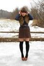 Deep-purple-plaid-vintage-blazer-black-polka-dot-urban-outfitters-socks