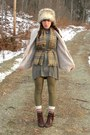 Dark-brown-cheerio-seychelles-boots-heather-gray-h-m-dress-heather-gray-faux