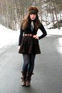 Dark-brown-uttley-aldo-boots-black-turtleneck-american-apparel-dress-dark-br
