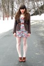 Brown-blimey-oxfords-seychelles-shoes-hot-pink-floral-forever-21-dress-dark-