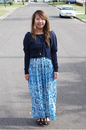 printed maxi Stellino dress - jumper - Kimchi Blue sandals