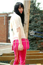White-sugarlips-blouse-hot-pink-zara-jeans