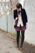 navy velvet vintage blazer - tawny Golden Ponies shoes