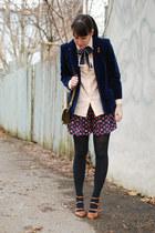 navy velvet vintage blazer - tawny Golden Ponies shoes