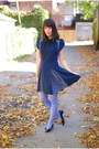 Black-vintage-flats-navy-sugarlips-dress-periwinkle-hue-tights