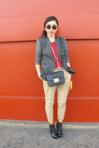 charcoal gray Zara blazer