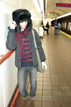 H&M hat - Diesel jacket - American Eagle shoes - H&M sweater
