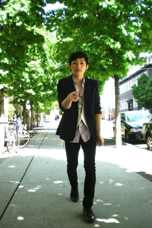 vintage blazer - Zara vest - Gap shirt - lady dutch pants - Aldo shoes
