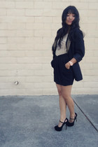 ellison blazer - Qupid heels - Ebay watch - Urban Outfitters skirt