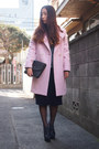 Navy-my-mums-clutch-vintage-bag-light-pink-kaon-coat