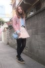 Sky-blue-heart-purse-frees-shop-bag-bubble-gum-tweedy-jacket-velnica-jacket