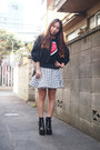 black GVGV jacket - black short busted Jeffrey Campbell boots