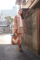 pink nadesico coat - light brown lita Jeffrey Campbell boots