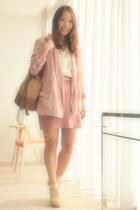 light pink pink blazer 2TOKYO blazer - camel Comptoir des Cotonniers bag