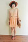 Vintage-boots-blessed-are-the-meek-dress-vintage-hat-urban-outfitters-bag