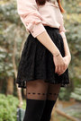 Gray-korean-brand-coat-black-topshop-tights-black-asos-skirt-light-pink-v-