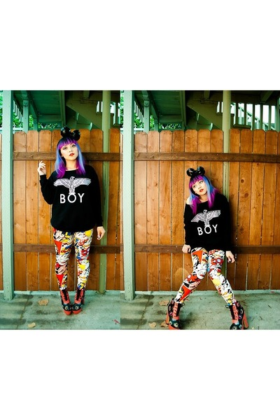 Sheinside sweater - Ironfist boots - OASAP leggings