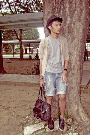 Judge shirt - CELIO sweater - Cheap Monday shorts - Prada accessories - WADE sho
