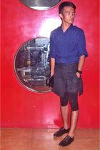blue YVES Identify - black YVES Identify shorts - black Louis Vuitton bag - blac