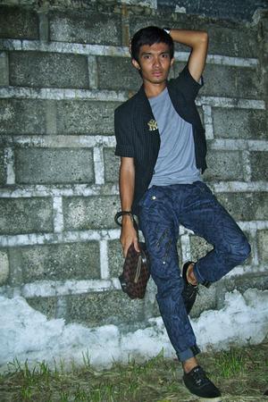 Judge shirt - YVES Identify blazer - Chevignon pants - WADE shoes - Louis Vuitto