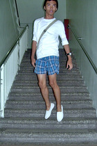 Bossini shirt - Bossini sweater - Oleg Cassini shorts - human accessories - Gues