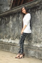from Viet Nam jeans - Forever21 sweater - leopard print from Viet Nam bag - Jimm