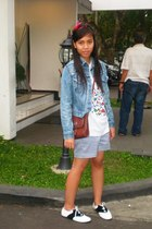 days and smoothie accessories - Levis jacket - purse - t-shirt - Zara shorts - i