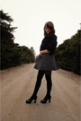Black-altered-jacket-gray-cooperative-dress-gray-faux-fur-hot-topic-scarf