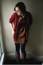 American Apparel sweater - vintage dress - HUE tights - Marimekko socks - Urban