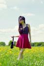 Black-bralet-bikbok-top-ruby-red-skirt-h-m-skirt