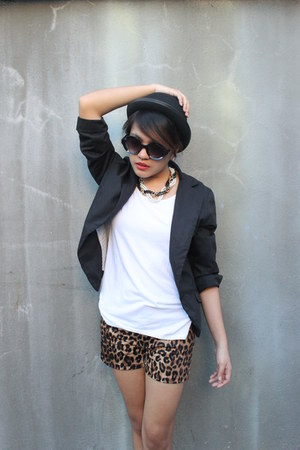hat - blazer - sunglasses - top