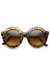 brown round plastic zeroUV sunglasses