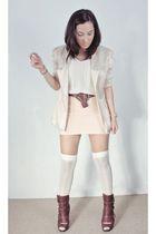 Loveculturemultiplycom blazer - H&M belt - Topshop skirt - shopnastygal socks -